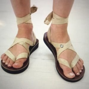 Sseko ribbon leather sandals and new Sseko ribbons